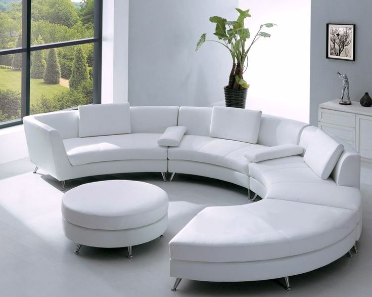 Contemporary Furniture Design White Leather Sectional Sofa With Ottoman And  Optional Multifunction Table Part 33