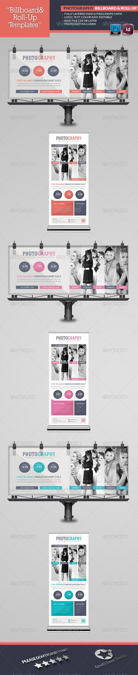 Photography Billboard & Roll-Up Template  #GraphicRiver        Photography Billboard & Roll-Up Template  Fully layered INDD   Fully layered PSD   70×30 and 30×70 Inches .Indd   70×30 and 30×70 150 Dpi .Psd   Fully layered PSD   300 Dpi, CMYK   IDML format open Indesign CS4 or later  Completely editable, print ready  Text/Font or Color can be altered as needed  All Image are in vector format, so can customise easily  Images Not Inculed  Font Links: Lato Font: Lato Font:  .fontsquirrel…