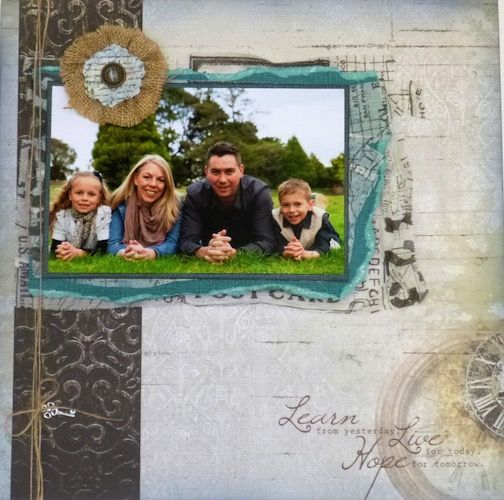 Page created with KaiserCraft, Antique Bazaar collection by Teena Hopkins for My Scrappin' Shop.
