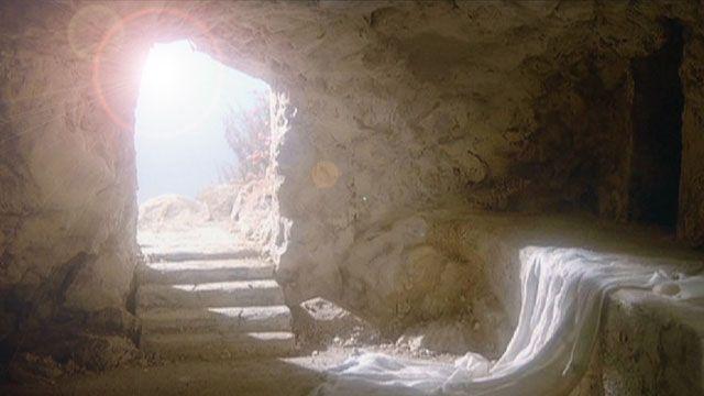De lege grot na Jezus' verrijzenis..
