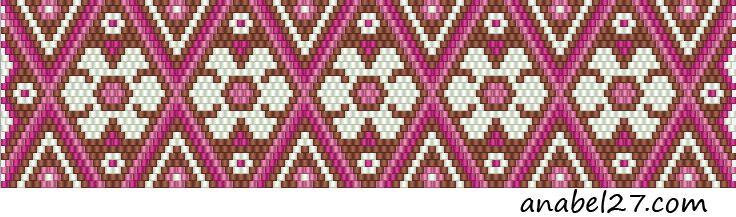 Схемы браслетов - мозаичное плетение 15 | - Схемы для бисероплетения / Free bead patterns -