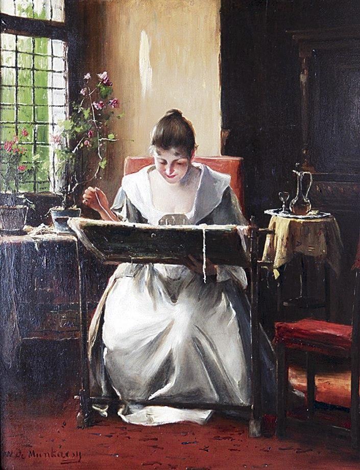 Munkácsy Mihály (1844-1900) - Hímző lány