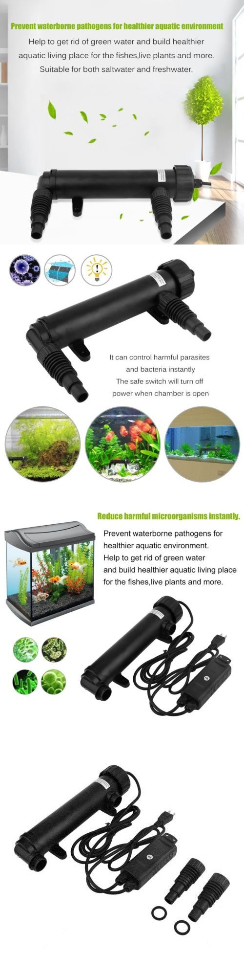 Luxury UV Sterilizers W Aquarium Fish Pond Tank Uv Sterilizer Filter Clarifier Lamp Pump Filter