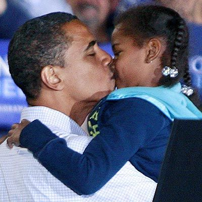 Barack Obama and His Little Kid