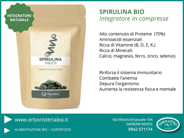 #Spirulina in compresse #integratorinaturali #erboristeria  > http://goo.gl/WtG7tK