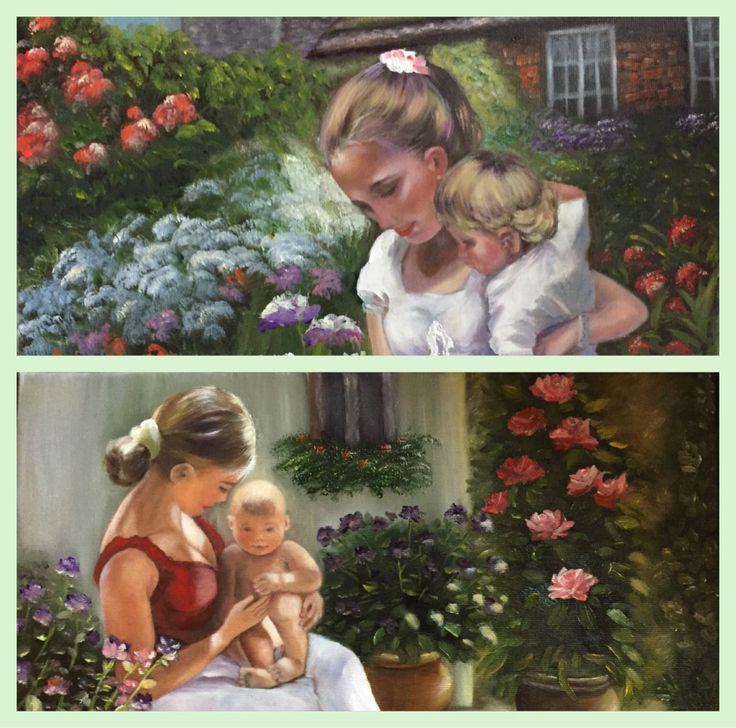 """""""O mama isi poate tine doar o vreme copilul in brate, dar in inima tot restul vietii."""" Dincolo de bucuria si starea de pace si liniste interioara pe care o traiesc atunci cand pictez, a…"""