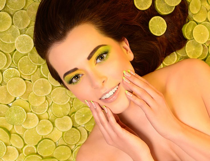 Owocowa stylizacja #lemon #lime #nails #artnails #manicure #semilac #akademiasemilac #model