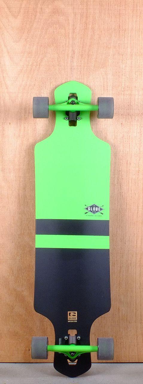 """Globe Prebuilt 39"""" Geminon Green Longboard Complete"""