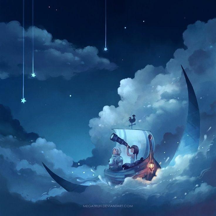 cast away on the moon by megatruh on DeviantArt
