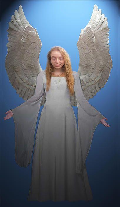 Angel - Customised Christmas Cards Fine Art America