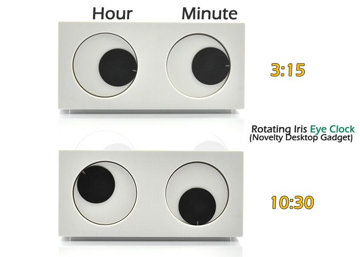 "Rotating Iris Novelty Clock ""Eye Clock"" - Desktop Gadget Timepiece"