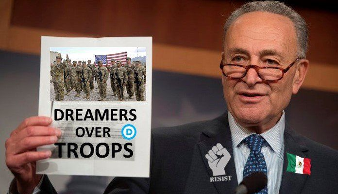 """🇺🇸 USA OVER PARTY on Twitter: """"🇲🇽DREAMERS OVER OUR 🇺🇸TROOPS #SchumerShutdown #Democrats… """""""