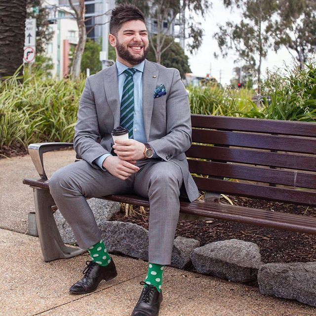 Green with envy .. Tommy the manager of our Doncaster store sure knows how to put together an ensemble of colours for this season.