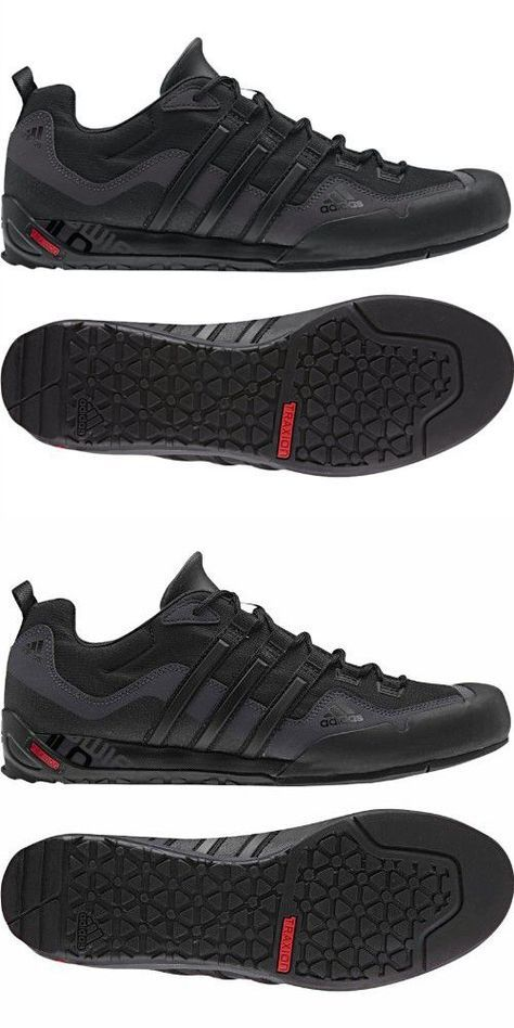 detailing 187ed 444e7 Adidas Outdoor Terrex Swift Solo Approach Shoe - Men s Black Black Lead 11
