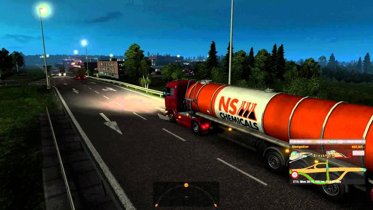 Euro Truck Simulator 2 Scania R 370 transporting Chemicals from Stockhol...
