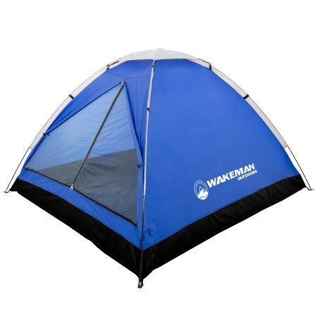 2-Person Tent, Water Resistant Dome Tent for Camping With Removable Rain Fly And Carry Bag, Lost River 2 Person Tent By Wakeman Outdoors, Gray