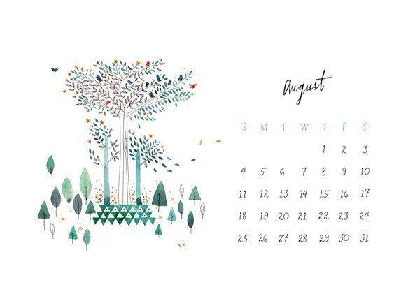 Календарь на август 2015