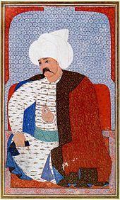 Turkish miniature of Sultan Selim I, 1512-1520