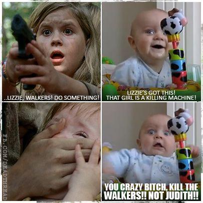 Lizzie, Mika and Judith ~ The Walking Dead LOL via FB.DeadThread haha @Amber Seaman and @darlene Zahn