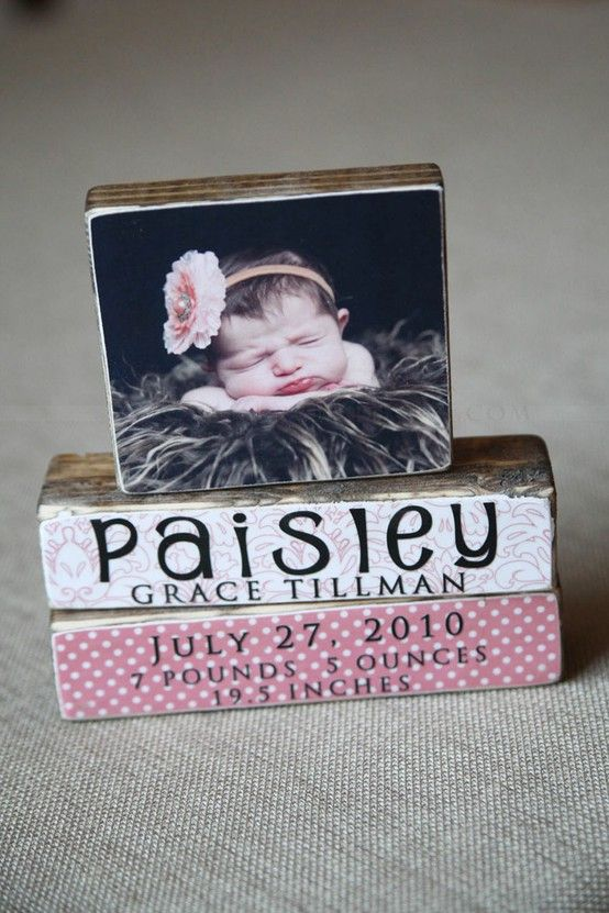 DIY Photo blocks... awesome idea! wouldn't wedding picture with names and date below be beautiful. Love this idea for children too amazing potential for any picture.