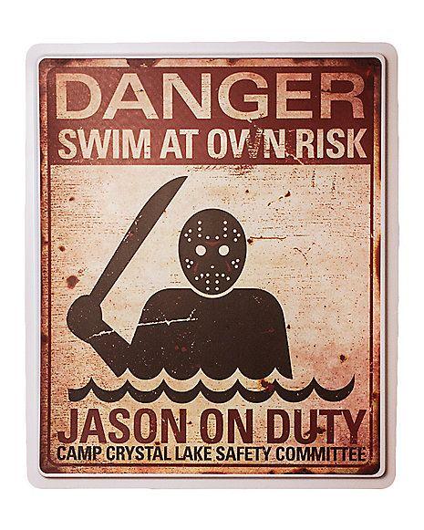 Jason On Duty Sign - Spirithalloween.com