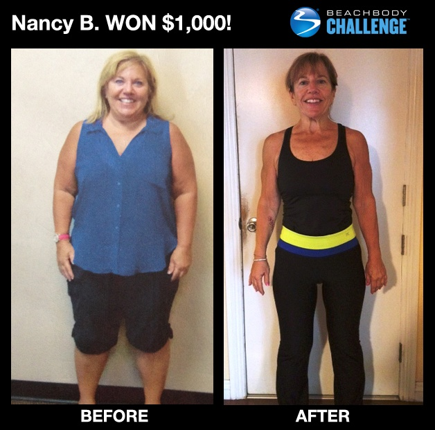 """::March 2013, WOMEN 50+:: Nancy, age 59, lost 64.2 LBS and 9.25"""" off WAIST with #P90X + #Shakeology! --> """"I am proud of my results and my lifestyle change -- this is now who I am, and I know this is my lifelong commitment!"""" ENTER YOUR RESULTS TODAY FOR A CHANCE TO WIN!"""