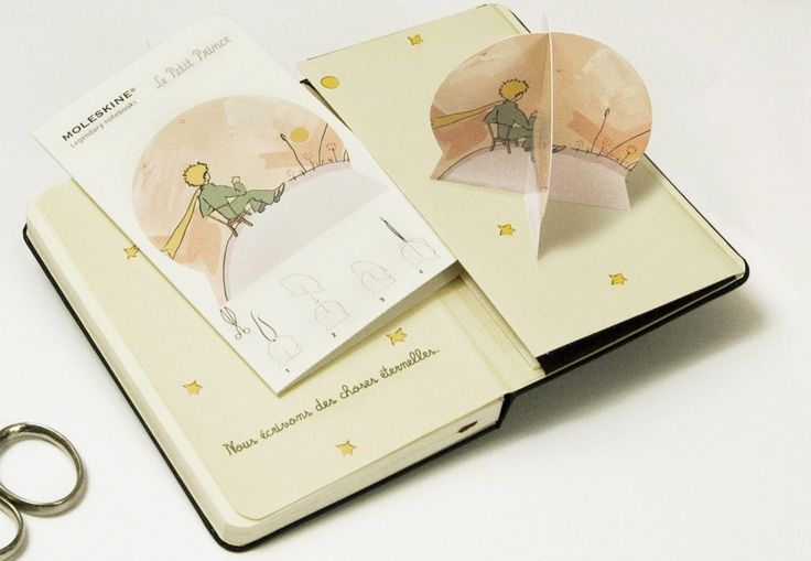"""Limited Edition Moleskin/ """"Little Prince"""" by Antoine de Saint-Exupery. How absolutely gorgeous."""