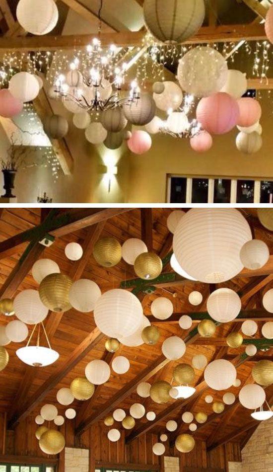 DIY Hochzeitsdekoration Bastelideen - Lampiondeko