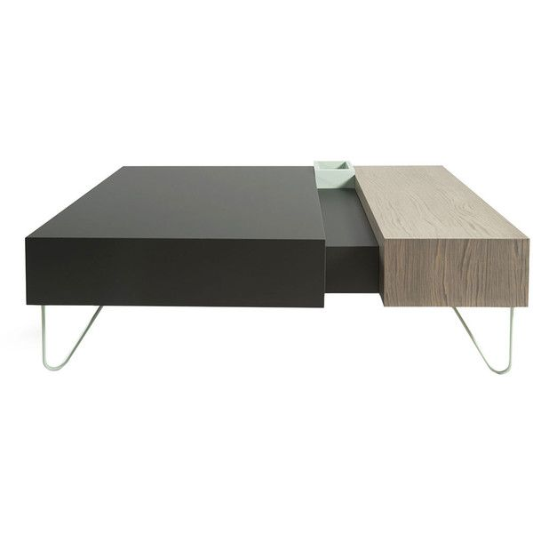 al2 Vintme coffee table - Multicoloured wood L130 cm (364.300 HUF) ❤ liked on Polyvore featuring home, furniture, tables, accent tables, furnituretables, wood table, wood accent table, wooden coffee tables, colorful tables и wooden table