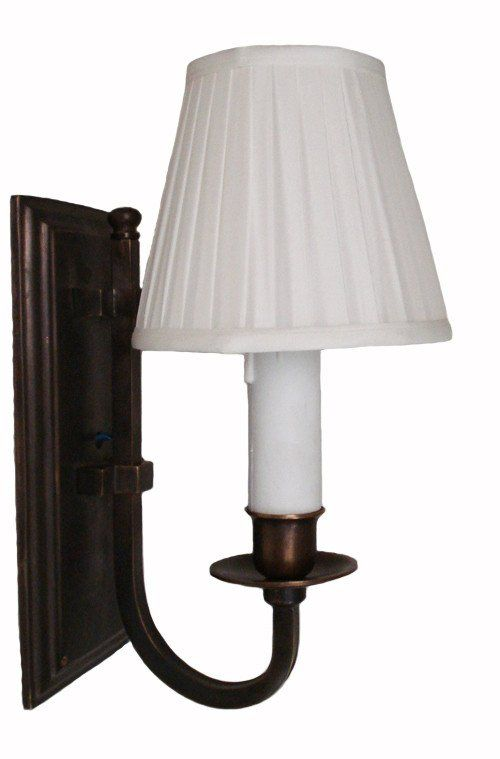 East Borne Wall Sconce Florentine Brown With Shade