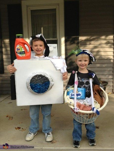 Ever heard the phrase never air your  dirty laundry ? This costume-for-two from Costume Works begs to differ. Plus, you've got most of the items in your home already, and you'll spark fond memories every time you wash their clothes.