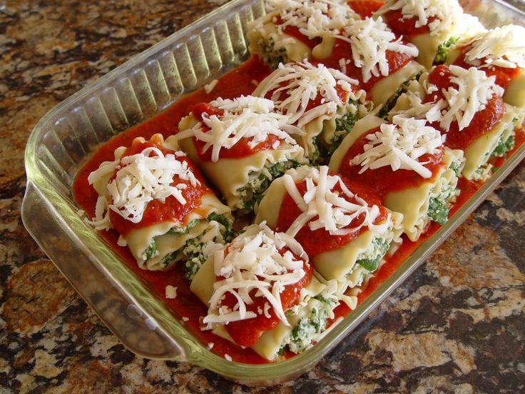 Mmm, lasagna rolls - looks good!