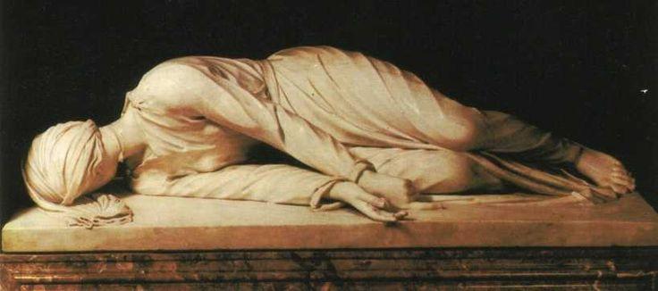Santa Cecilia martire scultura di Stefano Maderno, 1599. Saint Cecilia, martyr.