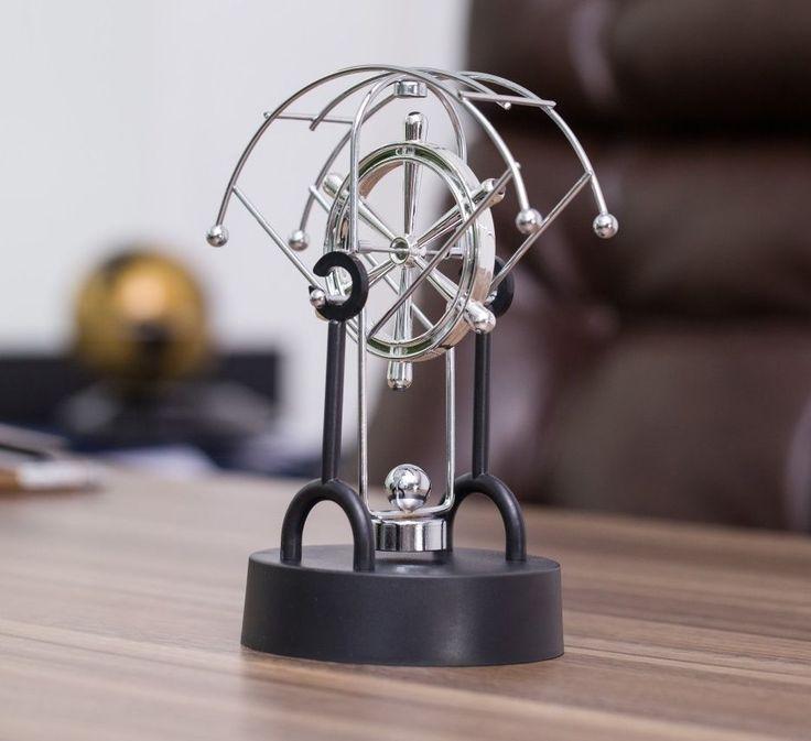 Perpetual Motion Machine Rudder Cosmos Revolving Por Office Desk Toy Gift