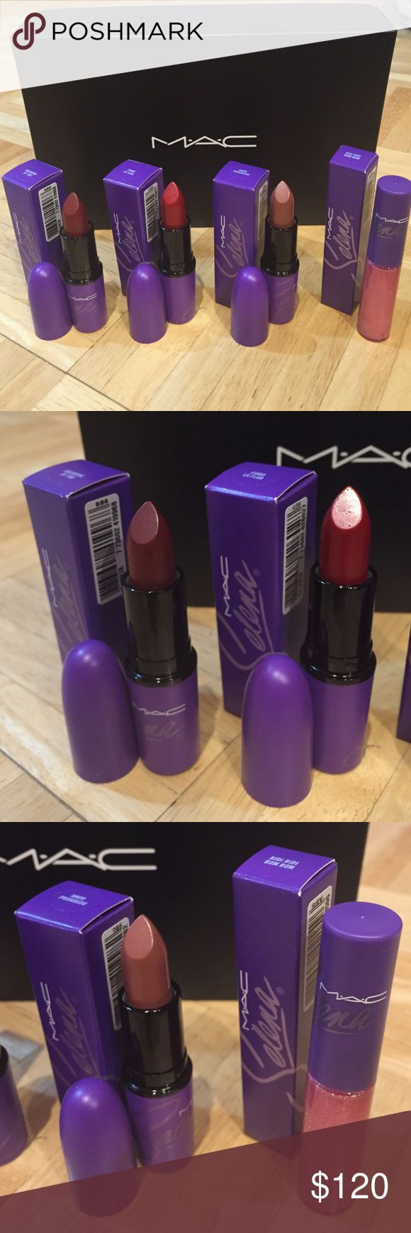 LIMITED MAC Selena lipstick and lipglass bundle MAC Selena lipstick and lipglass bundle. Brand new and unswatched!! Includes one each of Dreaming of You, Como La Flor, Amor Prohibido and Bidi Bidi Bom Bom lipglass. ❌ NO TRADES ❌ MAC Cosmetics Makeup Lipstick