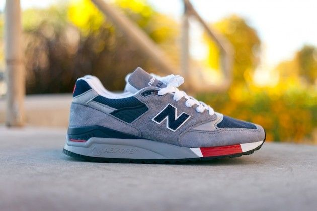 New Balance 998 « Gris/bleu/rouge »