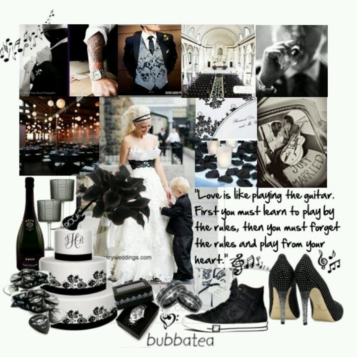 Black Amp White Rock N Roll Wedding Theme