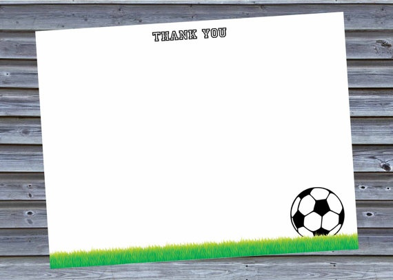Soccer Thank You Cards Instant Download \u2022 Stationery \u2022 Note Cards