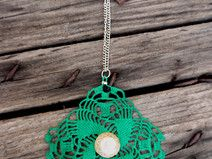 Crochet Green necklace