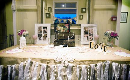 Rustic Wedding with our hessian & lace bunting - http://www.marrighi.com.au/Wedding-event-decor/Hessian-Lace-Bunting-Flag-Bunting.html