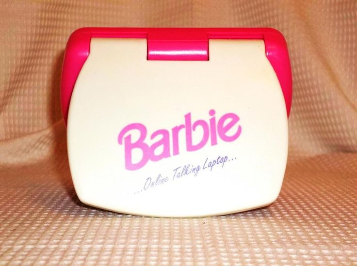 1988 Barbie's Online Talking Laptop & Floppy Disk By Mattel Tested & Works #Mattel