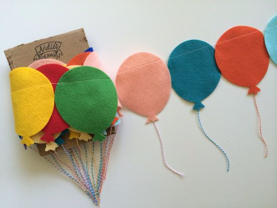 This fun garland is a great addition to decorate any event or spot with a balloon or carnival theme. For a big statement try layering multiple
