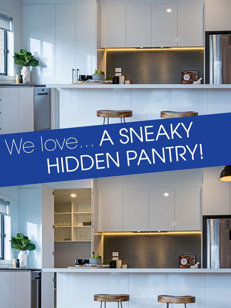 We love... a sneaky hidden pantry!