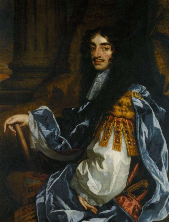 Charles II (29 May 1630 – 6 February 1685) was king of England, Scotland, and Ireland.  He was also a hottie.