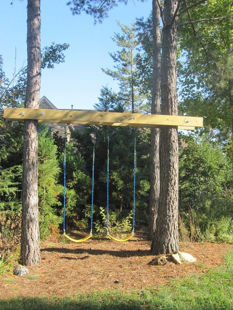 Built-In Swings- duh moments. Why not use existing trees to anchor swings?