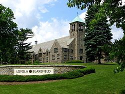 Loyola Blakefield [Wikipedia] grandfather went here when it was known as Loyola High School