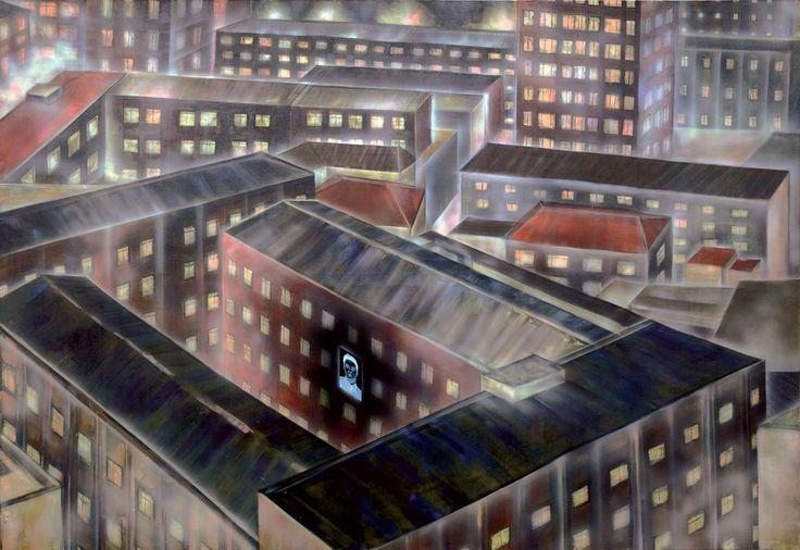 """""""New(s) Paintings"""", Śmierć dyktatora w Korei Północnej / grudzień 2011 #art #painting #korea #cyberculture"""