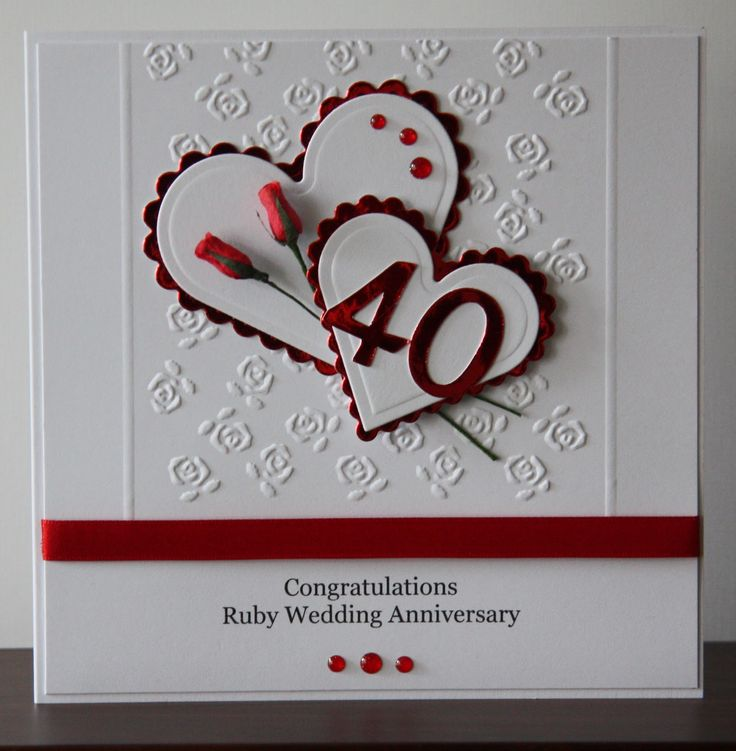 Ruby Wedding Gift For Parents : best ideas about Wedding anniversary cards on Pinterest Anniversary ...
