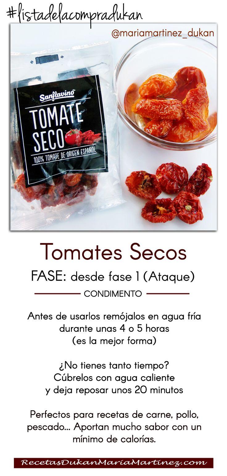 Lista de la Compra Dukan: tomates Secos + Seis recetas ligeras para utilizarlos (aptas para la dieta) http://recetasdukanmariamartinez.com/2014/04/14/recetas-dukan-con-tomates-secos/  #dukan #listadelacompradukan