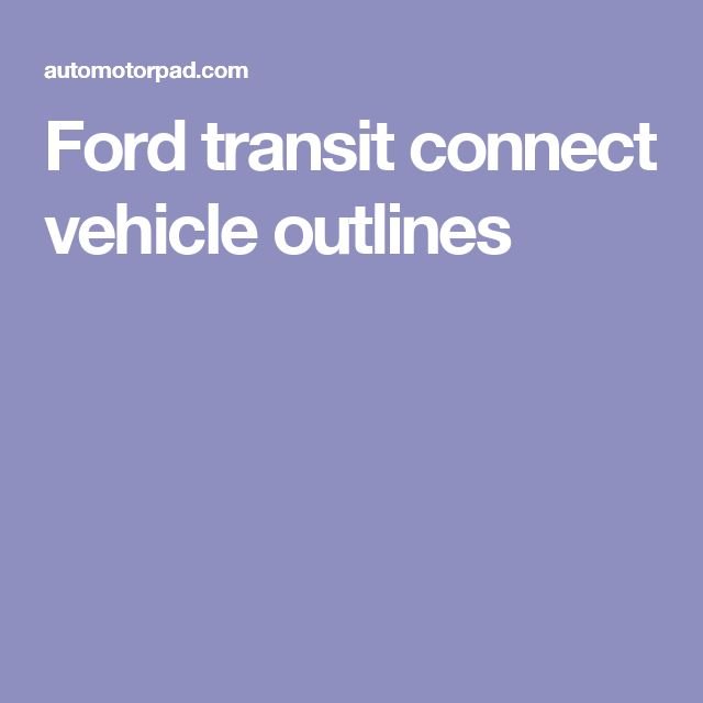 2016 Used Ford Transit Connect Campervan Class B In: 1000+ Ideas About Ford Transit On Pinterest